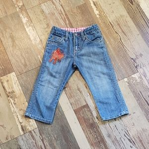Toddler Wrangler jeans with horseshoes on pockets